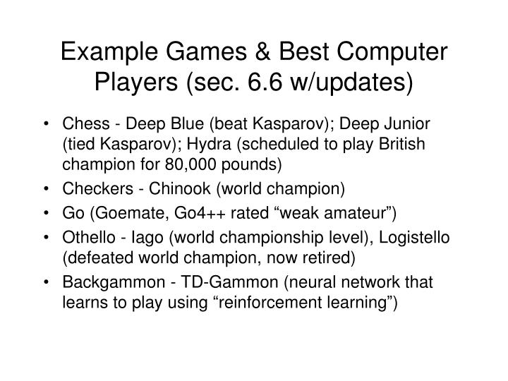Example games best computer players sec 6 6 w updates