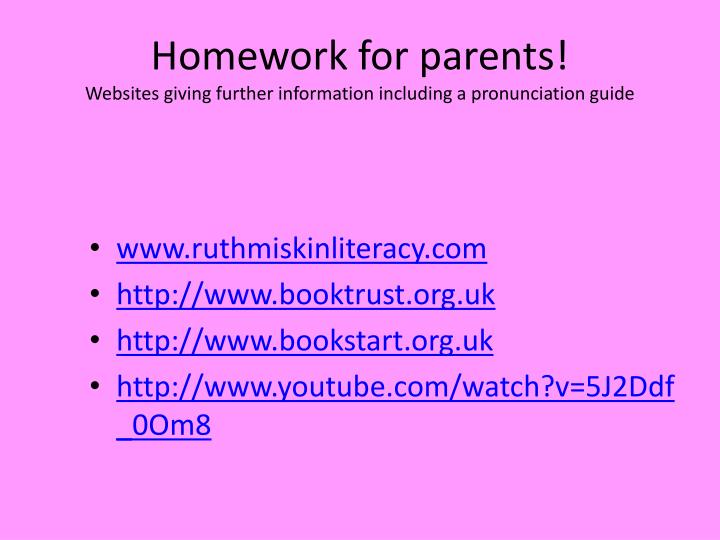 Homework Tips and Information for Parents