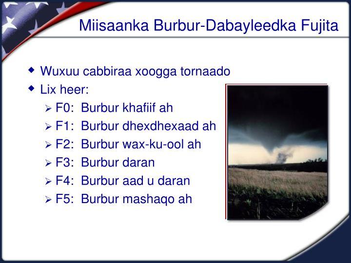 Miisaanka Burbur-Dabayleedka Fujita