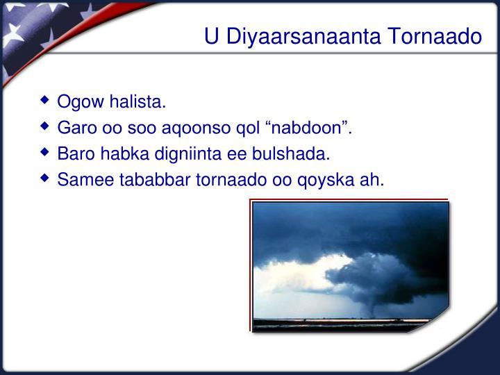 U Diyaarsanaanta Tornaado