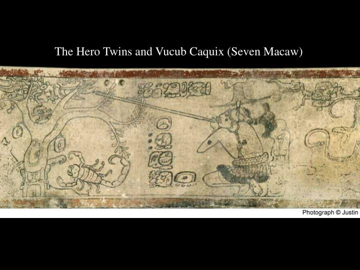 The Hero Twins and Vucub Caquix (Seven Macaw)
