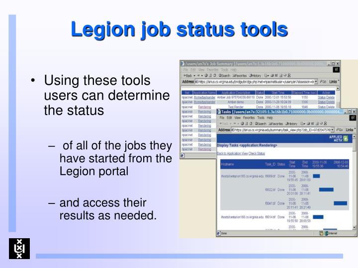 Legion job status tools
