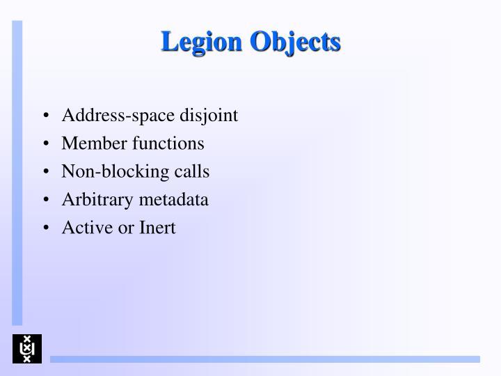 Legion Objects