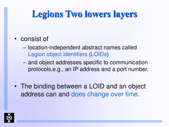 Legions Two lowers layers