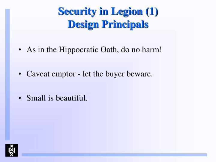 Security in Legion (1)