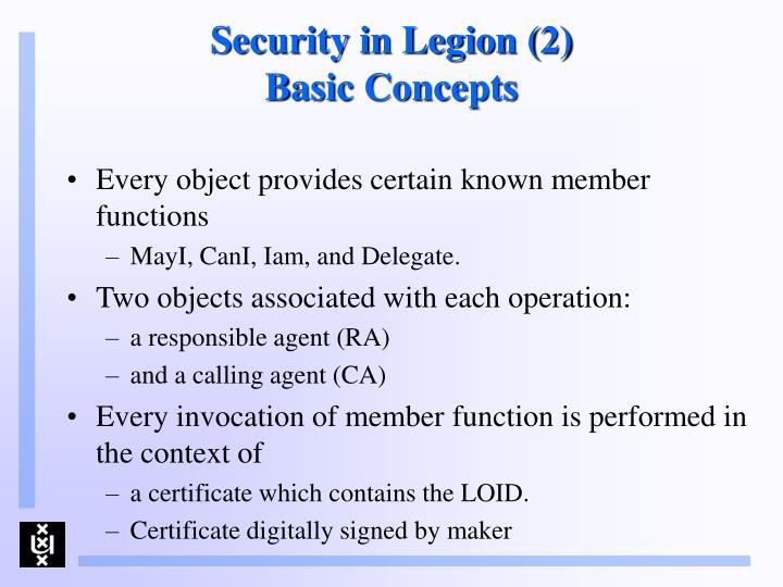 Security in Legion (2)