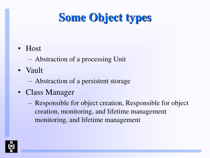 Some Object types