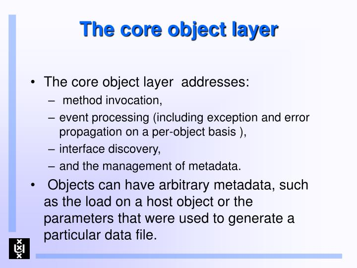 The core object layer