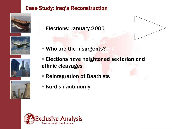 Case Study: Iraq's Reconstruction