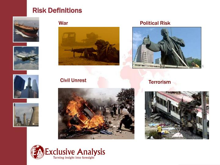 Risk Definitions