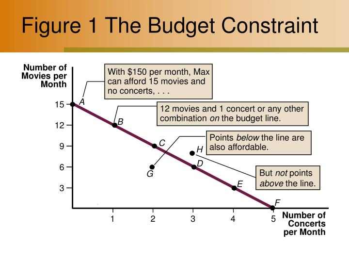 Figure 1 the budget constraint