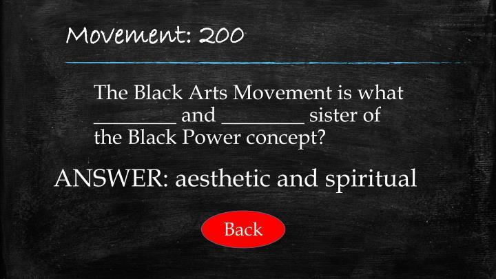 Movement: 200