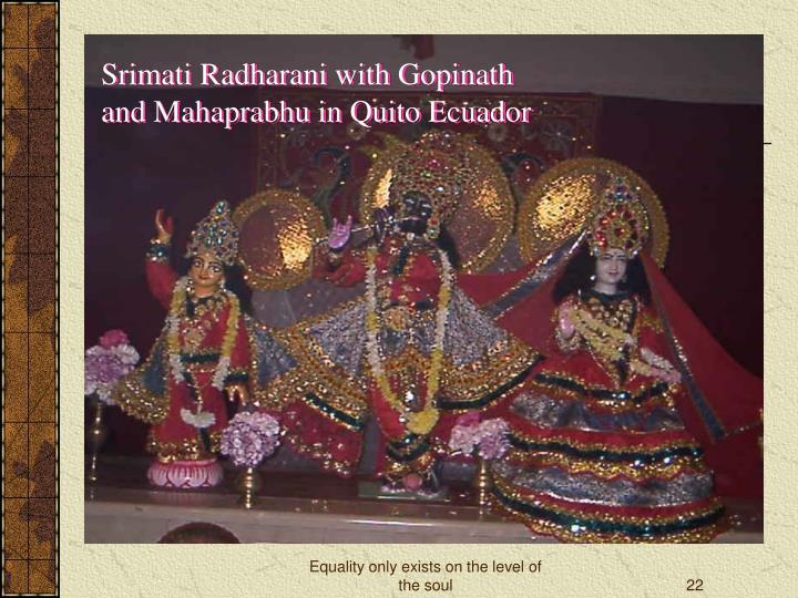 Srimati Radharani with Gopinath