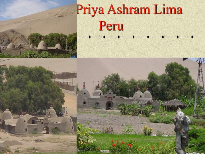 Visnu Priya Ashram Lima Peru