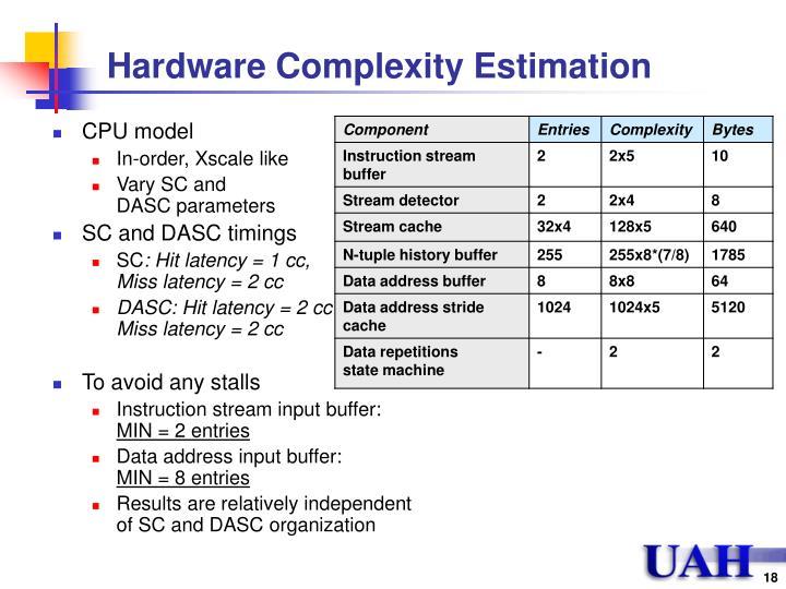 Hardware Complexity Estimation