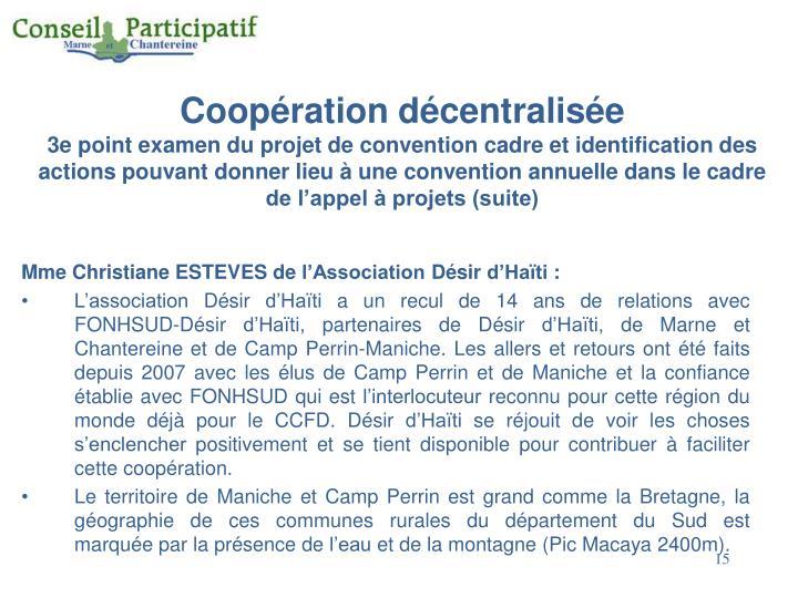 Coopération décentralisée