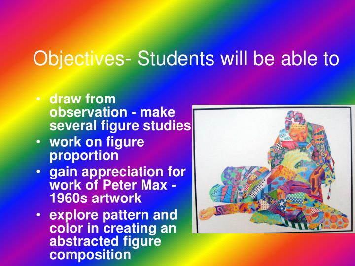 Objectives- Students will be able to
