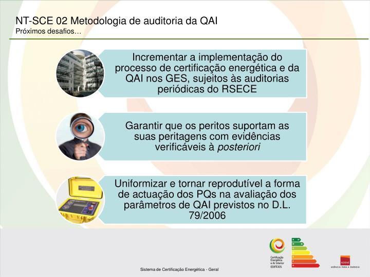 NT-SCE 02 Metodologia de auditoria da QAI