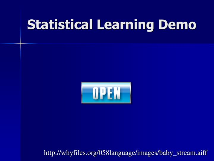 Statistical Learning Demo