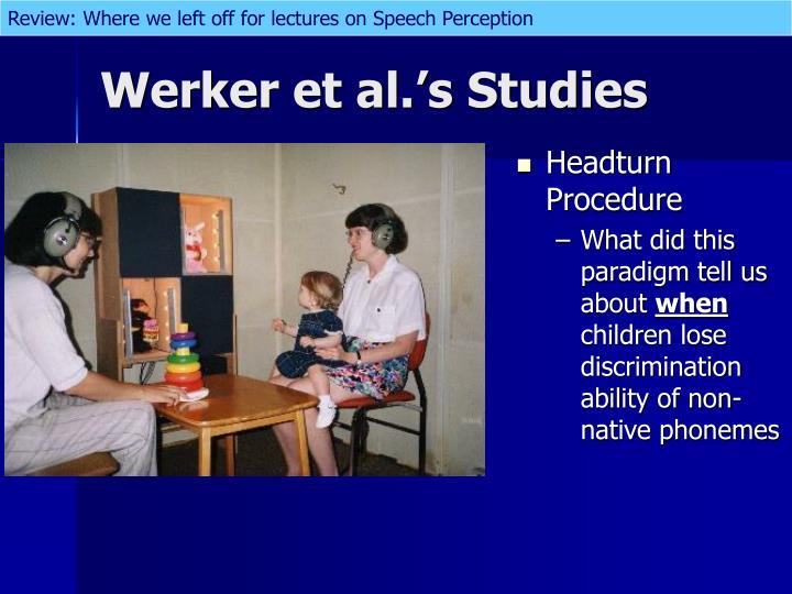 Headturn Procedure