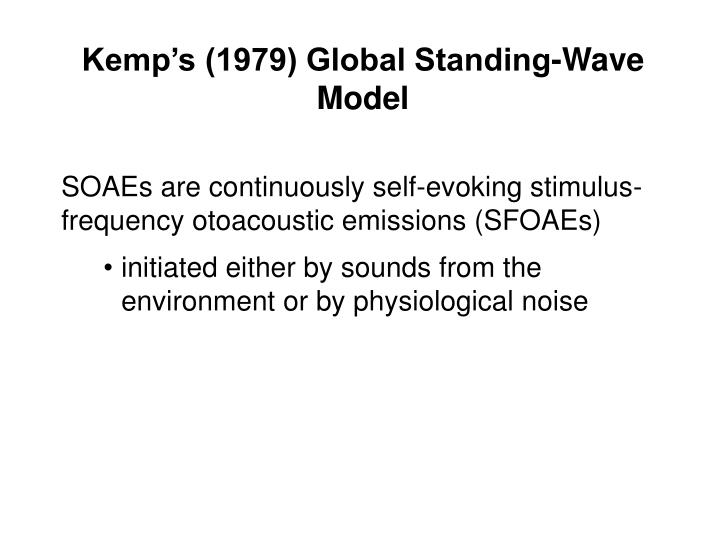 Kemp's (1979) Global Standing-Wave Model