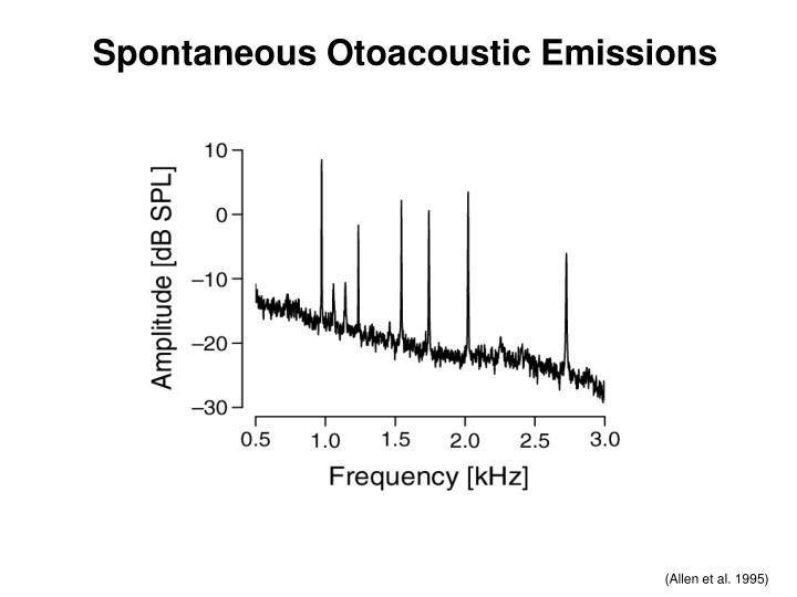 Spontaneous Otoacoustic Emissions