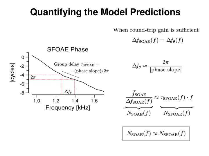Quantifying the Model Predictions