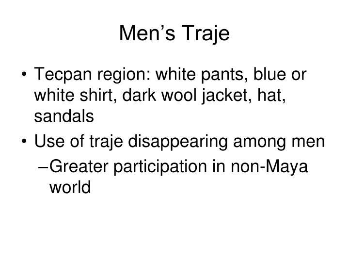 Men's Traje