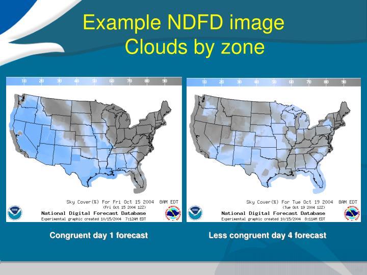 Example NDFD image