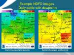 example ndfd images daily battle with dewpoints