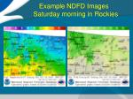 example ndfd images saturday morning in rockies