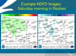 example ndfd images saturday morning in rockies3