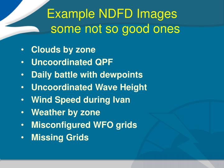 Example NDFD Images