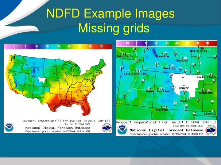 NDFD Example Images