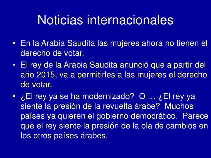 Noticias internacionales