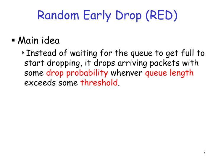 Random Early Drop (RED)