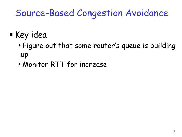 Source-Based Congestion Avoidance