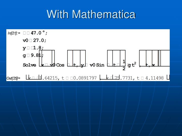 With Mathematica