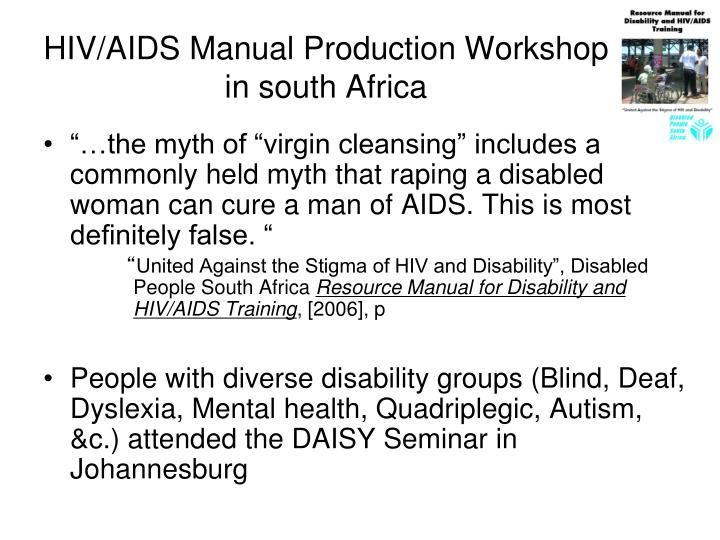 HIV/AIDS Manual Production Workshop in south Africa
