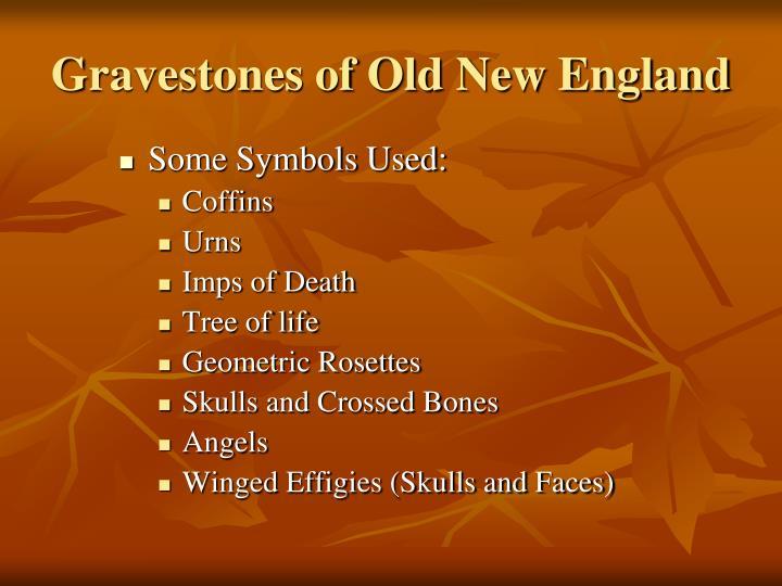 Gravestones of Old New England