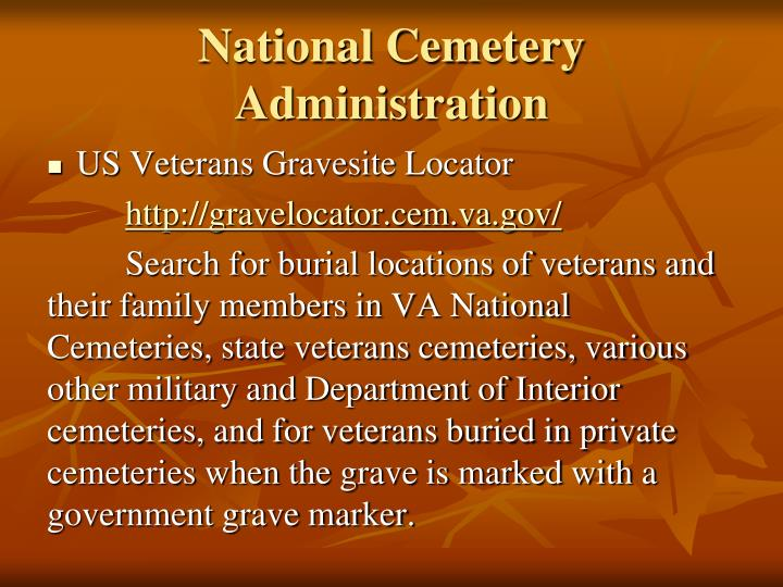National Cemetery Administration