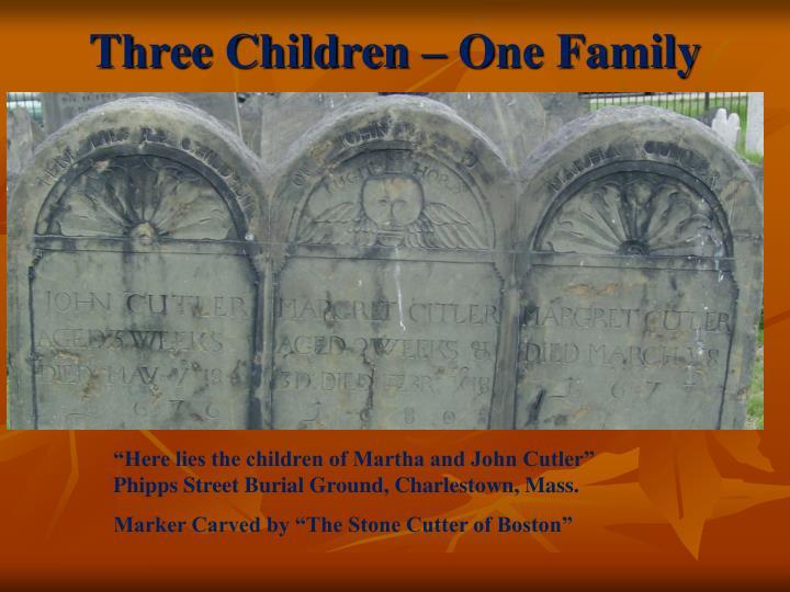Three Children – One Family