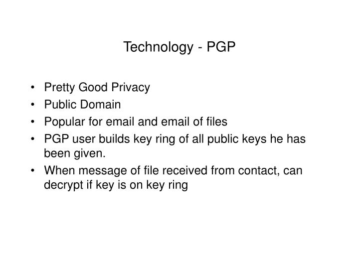Technology - PGP
