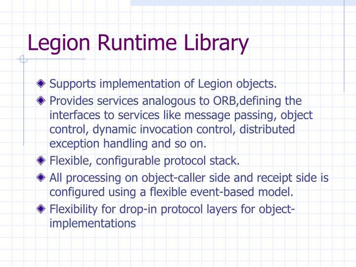 Legion Runtime Library
