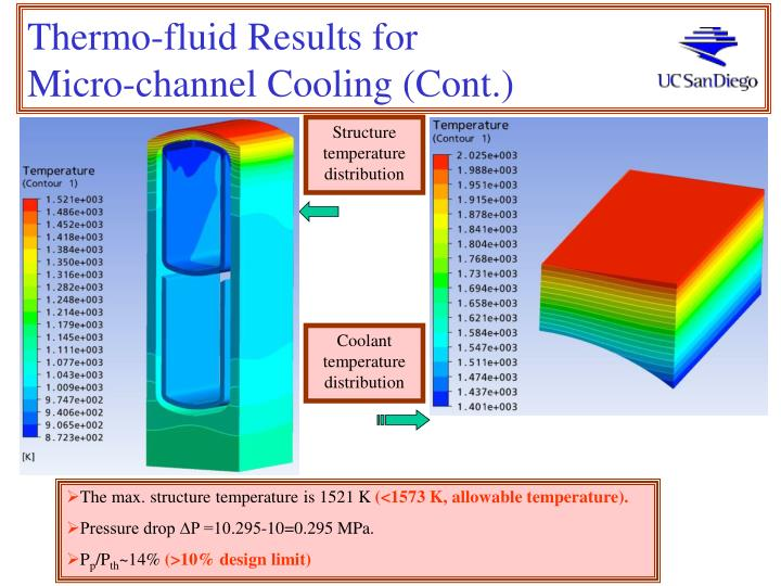 Thermo-fluid Results for