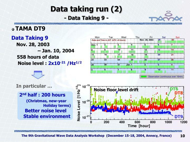 Data taking run (2)