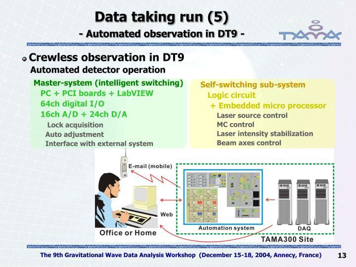 Data taking run (5)