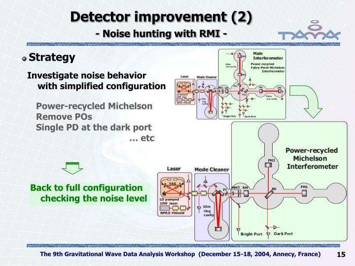 Detector improvement (2)