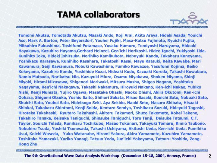 TAMA collaborators