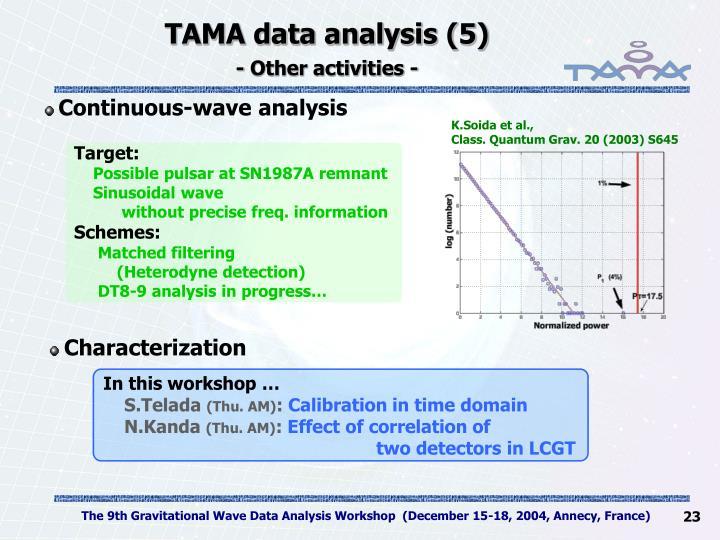TAMA data analysis (5)